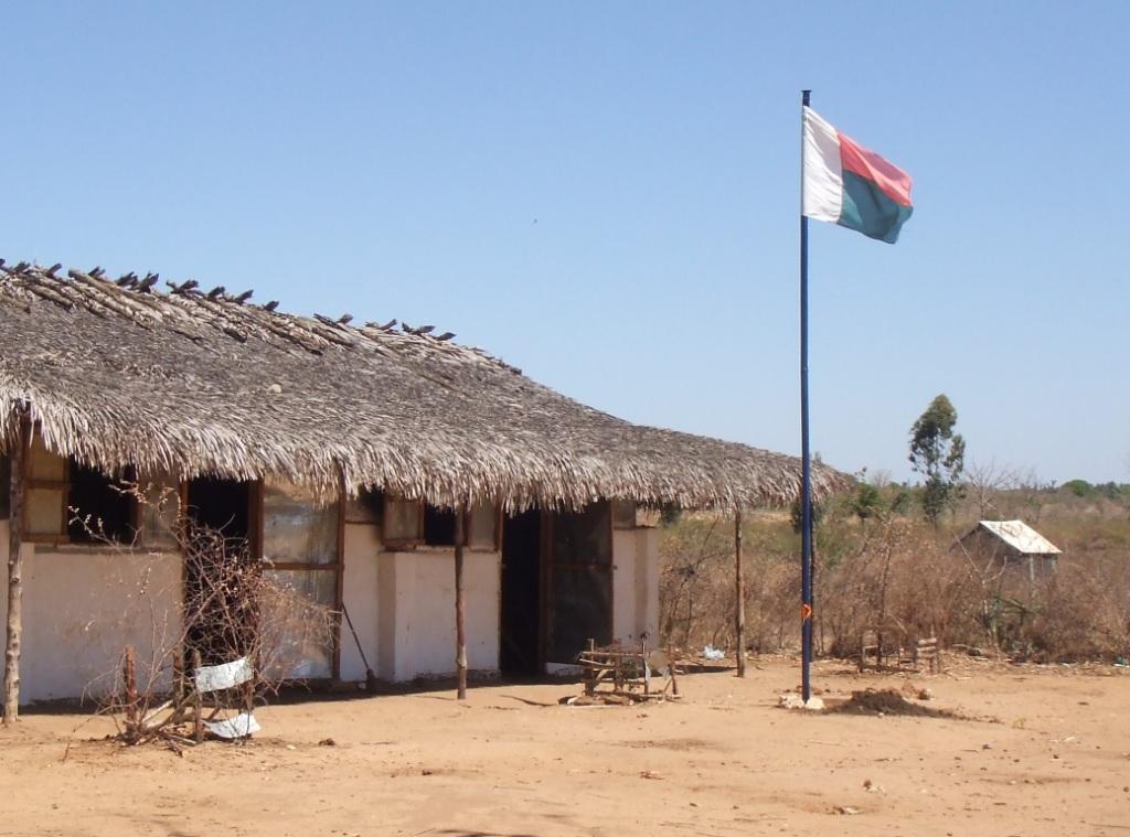 L'école d'Andohagara est en brousse, à 10 kms de Majunga